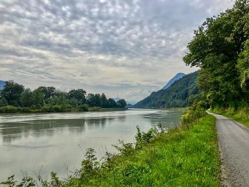 River Inn passing Kiefersfelden, Bavaria, Germany