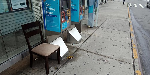 Bus stop in the Bronx