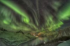 Aurora Boreal sobre Fjordgard...with Segla in the background.