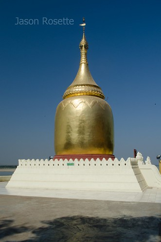 Golden Stupa Stands in Brilliant Sun, Bagan, Myanmar