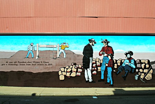 Lead mining mural with Ulysses S. Grant.