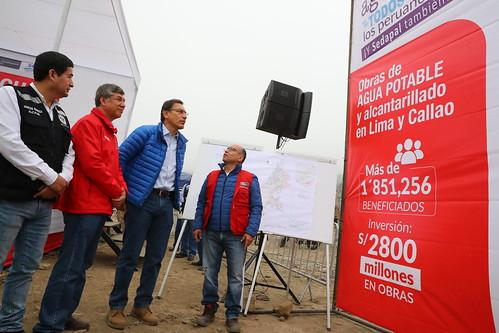 Presidente Martín Vizcarra anunció el inicio de obras de ampliación de agua y alcantarillado en Carabayllo