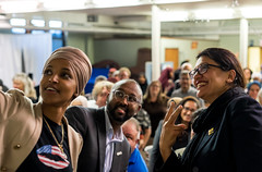 Image by brads651 (bradsigal) and image name Ilhan Omar and Rashida Tlaib speak at an event hosted by CAIR-Minnesota August 19, 2019 in Minneapolis.   Photos by Brad Sigal. Photo credit requested for sharing. Contact me for reprinting. photo