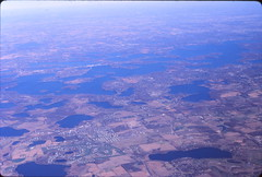 Image by mplstodd (21206707@N08) and image name Approaching Minneapolis--View of Lake Minnetonka -- October 1999 photo