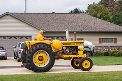 Image by Thomas DeHoff (66955386@N05) and image name Minneapolis Moline M670 photo  about Tractor parade outside my front door,   Living here in the middle of the country is great