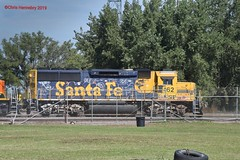 Image by Minkota Railfan (90374018@N02) and image name BNSF 162 photo  about Yesterday I went to Aberdeen, SD to get better pics of the of the former Great Northern, Minneapolis & St Louis Railway, and Milwaukee Road depots, plus the Chicago & Northwestern depot, that I didn't get a pic of the last time I was there.  When I arrived there I saw this Santa Fe GP60 in B