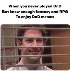 Image by bountybored (183593941@N04) and image name shoutout to all the people that enjoy memes but never played DnD . . #dnd #meme #dndmemes #dndcharacter #dungeonmaster #dungeonsanddragons #dungeonsanddragonsmemes #memes #roleplay #rpg #tabletoprpg #ttrpg photo  about View on Instagram www.instagram.com/p/B2cg7EkBETS/