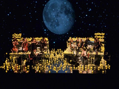 Image by buckaroo kid (kathyprints) and image name spiritualized photo  about with 1001 candles, and the moon and stars Hackney Empire