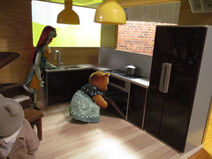 Image by sophie.lafontaine (97276790@N07) and image name mama bear approves of oven photo