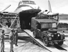 1960 RNZAF Bristol Freighter NZ5911 participating in Exercise Razor Keen at Kuatan, Malaya, 14 Dec 1960.