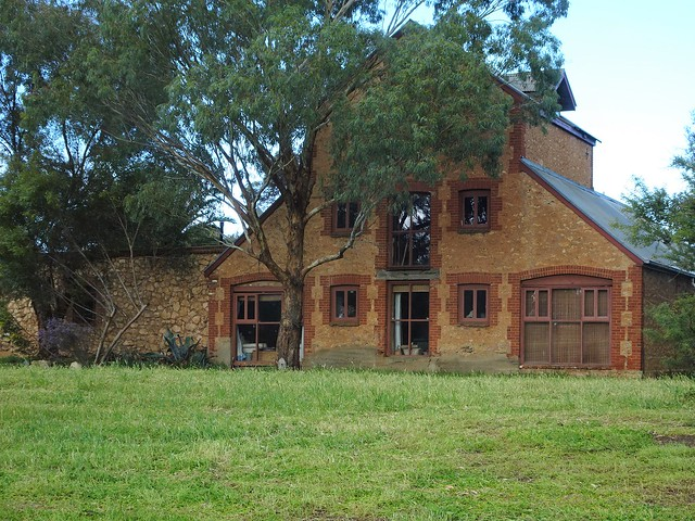 Photo:Callington an old copper mining town on the Bremer River. This fine stone and brick flourmill was erected in 1858. It closed in 1859 and has been a residence for many years. By denisbin
