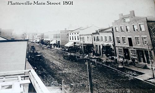Oak & Main St. Platteville, Wisconsin (1891)