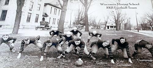 1921 Platteville Wisconsin Mining School Football team