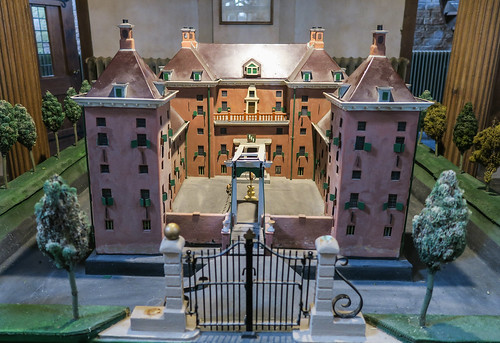 Maquette van de borg Nittersum in de kerk van Stedum