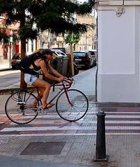 Girl Biking - Valencia