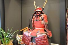 A representative image of a Samurai warrior inside the clothing store