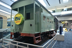 Early 4-wheeler Japanese caboose and freight car