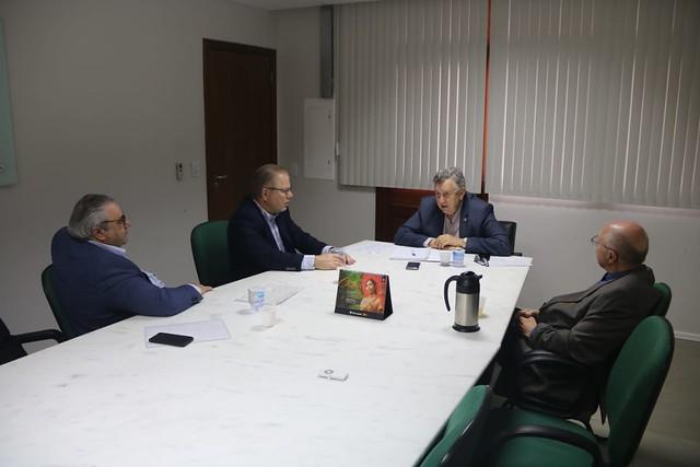 16/09/2019 Reunião sobre concessões de rodovias com empresários do setor de transporte - Planalto - Unesul e Outro e Prata