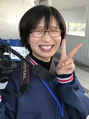 Apart from commercial photos, this lovely lass also took pictures of me against the bullet train with my own Nikon