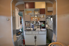 Part of the preserved dining car served as the kitchen/ pantry
