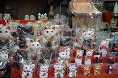 Another cat themed gift shop on the market street to Fushimi Inari