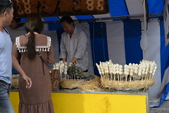 A Dango (Japanese flavoured pounded rice balls) stall at the base of the Fushimi Inari shrine