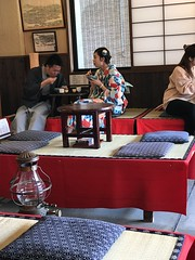 A look at the other diners in the the traditional Japanese cafe