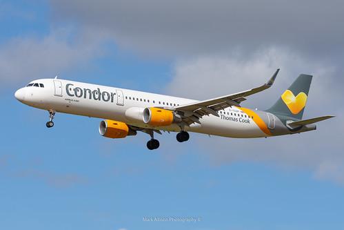 Condor / Thomas Cook A321 G-TCDP at Newcastle