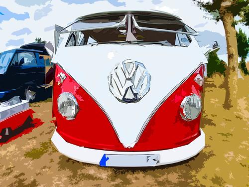 Red VW Bulli T1