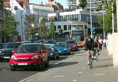 Two Way Cycle Track Across Bristol Centre