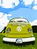 Green VW Bulli T2
