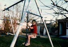 1984_Family_Activities_1984_0002_a Naomi on backyard swing