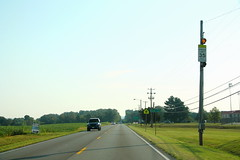 US31W North - Horse Cave - Very Tall School 35 Sign