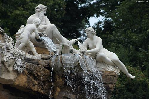 Schönbrunn : la fontaine de l'Obélisque (détail)