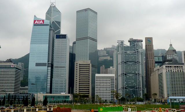 Many Skyscrapers in Hong Kong