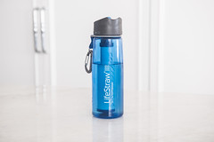 LifeStraw filtered water bottle