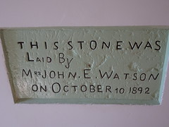 Cowell. The foundation stone of the old institute building erected in 1892 in limestone. A new grand facade and Institute  was built in 1912.