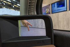 Side camera mirror system in the all-electric car Honda-e