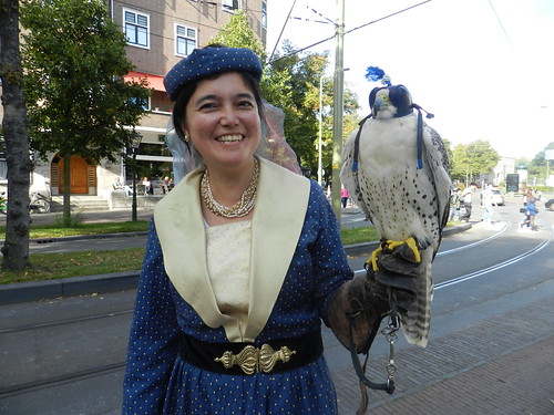 lady with falcon