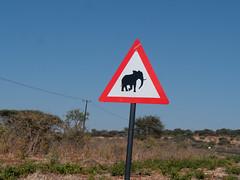 Elephant Crossing Sign - Botswana