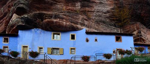 Alsace - Maisons des rochers - vue d'ensemble