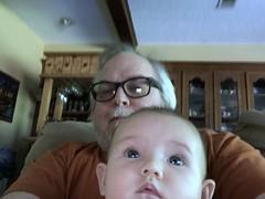 Big Daddy and Jasmine watching Sesame Street