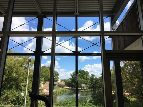 Park School ~ view from the fitness room