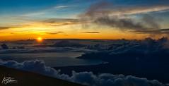 Sun going down from Haleakala