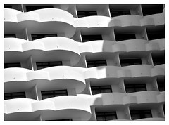 A cluster of balconys