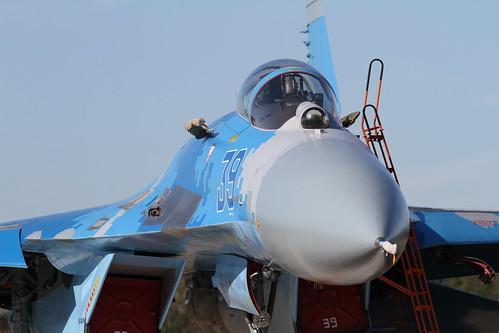 Ukrainian Air Force Sukhoy-27 #39 at Kleine Brogel