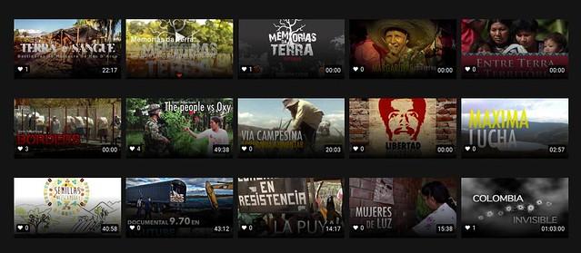 """Na categoria """"Luta Pela Terra"""" estão produções brasileiras como """"Terra e sangue"""" e """"Margaridas, luta e pé na estrada"""" - Créditos: Reprodução"""