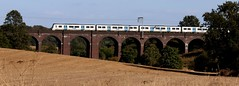 A new Class 717 unit on Northaw Brook viaduct