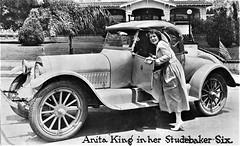 1918 Studebaker Six with Anita King