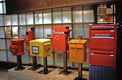 Mail Boxes on Display at the Post Office Museum, Washington, D.C.